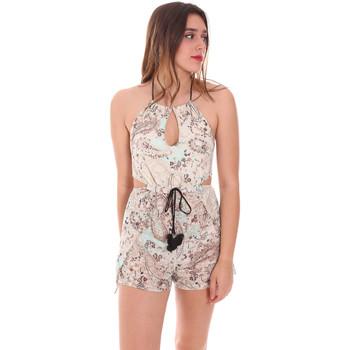 Textil Ženy Overaly / Kalhoty s laclem F * * K  Béžový