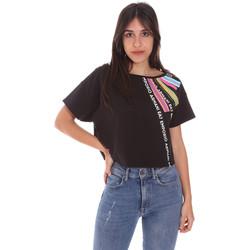 Textil Ženy Trička s krátkým rukávem Ea7 Emporio Armani 3KTT40 TJ39Z Černá