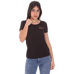 Textil Ženy Trička s krátkým rukávem Ea7 Emporio Armani 8NTT65 TJ28Z Černá