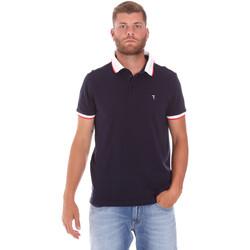 Textil Muži Polo s krátkými rukávy Trussardi 52T00491-1T003600 Modrý