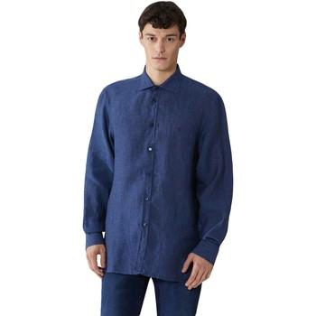 Textil Muži Košile s dlouhymi rukávy Trussardi 52C00212-1T002248 Modrý