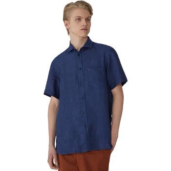Textil Muži Košile s krátkými rukávy Trussardi 52C00213-1T002248 Modrý