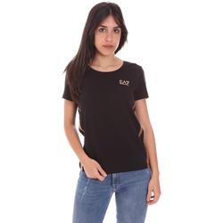 Textil Ženy Trička s krátkým rukávem Ea7 Emporio Armani 3KTT51 TJ9VZ Černá