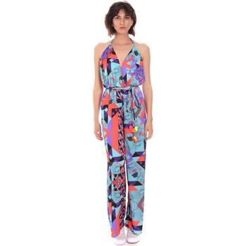 Textil Ženy Overaly / Kalhoty s laclem F * * K  Modrý