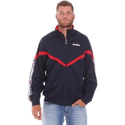 Textil Muži Teplákové bundy Diadora 502176080 Modrý