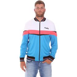 Textil Muži Teplákové bundy Diadora 102175669 Modrý
