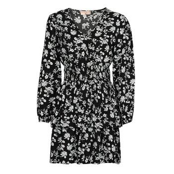 Textil Ženy Krátké šaty Moony Mood PAPIS Černá / Bílá
