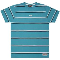 Textil Muži Trička s krátkým rukávem Jacker Poh stripes Modrá