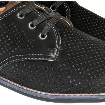 Boty Muži Šněrovací polobotky  & Šněrovací společenská obuv Pur Pánske čierne poltopánky DAVIES čierna