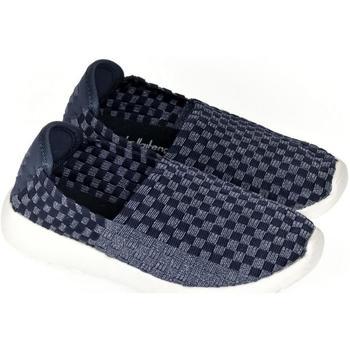 Boty Děti Street boty Pur Detské tmavo-modré elastické tenisky JOAN tmavomodrá