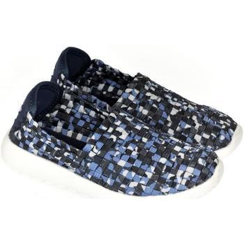 Boty Děti Street boty Pur Detské modré elastické tenisky JOHAN modrá
