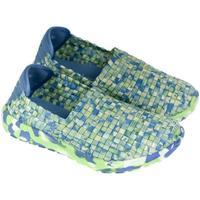 Boty Děti Street boty Pur Detské modro-zelené elastické tenisky JOHAN svetlozelená