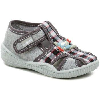 Boty Chlapecké Sandály Vi-Gga-Mi šedé dětské plátěné bačkůrky MICHAS Šedá