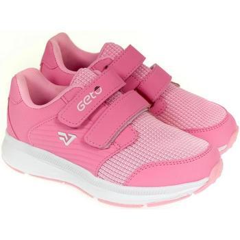 Boty Dívčí Nízké tenisky Gelteo Detské ružové tenisky  MEERA ružová