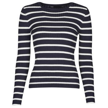 Textil Ženy Svetry Only ONLNATALIA Tmavě modrá / Bílá