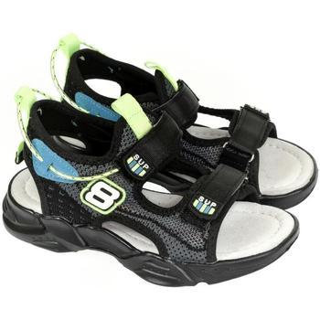 John-C Sportovní sandály Detské čierne sandále SUPREME 8 - Černá