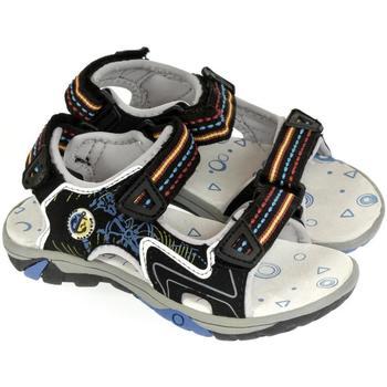 Boty Chlapecké Sportovní sandály Super Gear Detské čierne sandále JANÍK čierna