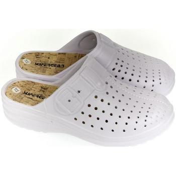 Boty Ženy Pantofle Super Gear Dámske biele crocsy S.GEAR JEANS biela