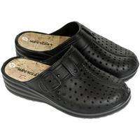 Boty Ženy Pantofle Super Gear Dámske čierne crocsy S.GEAR JEANS čierna