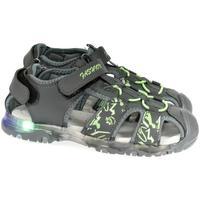 Boty Chlapecké Sportovní sandály Csck.s Detské blikajúce sivé sandále  JONES sivá