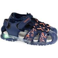 Boty Chlapecké Sportovní sandály Csck.s Detské blikajúce modré sandále  JONES tmavomodrá