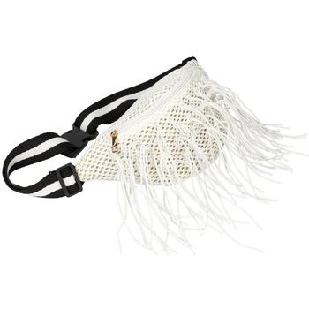 Taška Ženy Ledvinky Flora Collection Bílá dámská pletená ledvinka bílá / smetanová