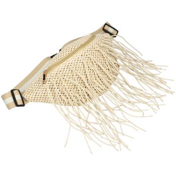 Taška Ženy Ledvinky Flora Collection Béžová dámská pletená ledvinka béžová