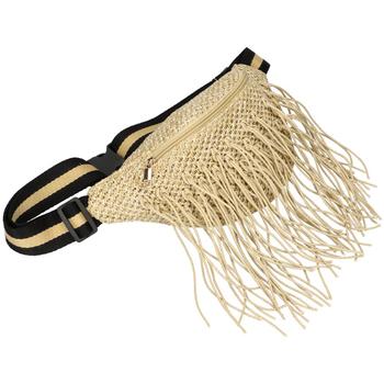 Taška Ženy Ledvinky Flora Collection Přírodní režná dámská pletená ledvinka béžová