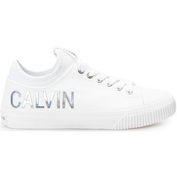 Boty Ženy Nízké tenisky Calvin Klein Jeans  Bílá