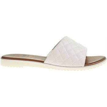 Boty Ženy Dřeváky Jana Dámské pantofle  8-27106-26 white Bílá