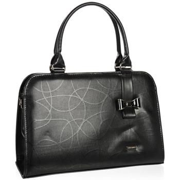Taška Ženy Kabelky  Grosso Černá elegantní dámská kabelka s mašlí S411 černá