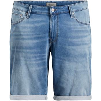 Textil Muži Kraťasy / Bermudy Jack & Jones 12167648 JJIRICK JJICON GE 003 I.K STS PS BLUE DENIM Azul claro