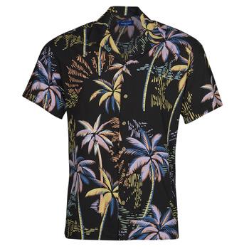 Textil Muži Košile s krátkými rukávy Jack & Jones JORTROPICANA Černá