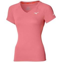 Textil Ženy Trička s krátkým rukávem Mizuno Drylite Tee W Růžové