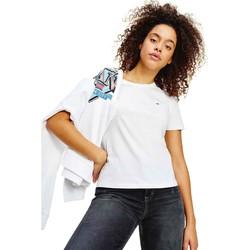 Textil Ženy Trička s krátkým rukávem Tommy Jeans DW0DW06901 Bílý
