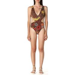 Textil Ženy jednodílné plavky F * * K  Hnědý