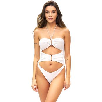 Textil Ženy jednodílné plavky F * * K  Bílý