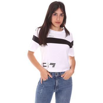 Textil Ženy Trička s krátkým rukávem Ea7 Emporio Armani 3KTT05 TJ9ZZ Bílý