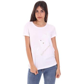 Textil Ženy Trička s krátkým rukávem Ea7 Emporio Armani 3KTT28 TJ12Z Bílý
