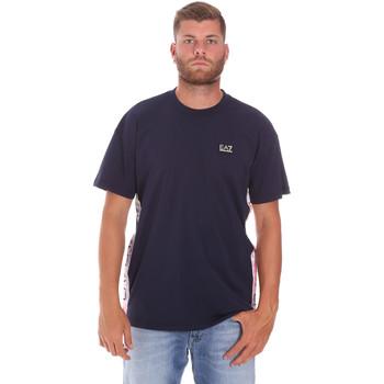 Textil Muži Trička s krátkým rukávem Ea7 Emporio Armani 3KPT13 PJ02Z Modrý