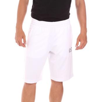 Textil Muži Plavky / Kraťasy Ea7 Emporio Armani 3KPS59 PJ05Z Bílý