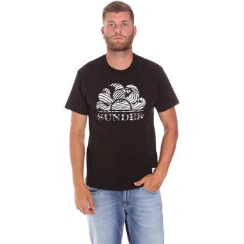 Textil Muži Trička s krátkým rukávem Sundek M027TEJ78ZT Černá