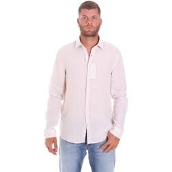 Textil Muži Košile s dlouhymi rukávy Calvin Klein Jeans K10K107236 Bílý