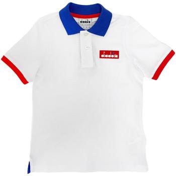 Textil Děti Polo s krátkými rukávy Diadora 102175907 Bílý