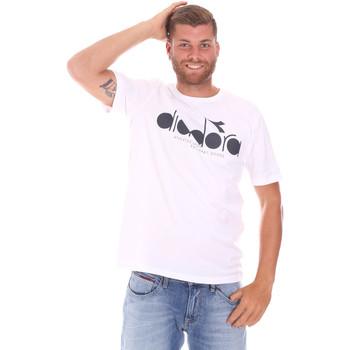 Textil Muži Trička s krátkým rukávem Diadora 502176633 Bílý