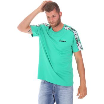 Textil Muži Trička s krátkým rukávem Diadora 502176085 Zelený
