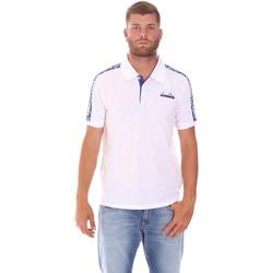 Textil Muži Polo s krátkými rukávy Diadora 102175672 Bílý