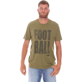 Textil Muži Trička s krátkým rukávem Diadora 102175854 Zelený