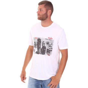Textil Muži Trička s krátkým rukávem Diadora 102175861 Bílý