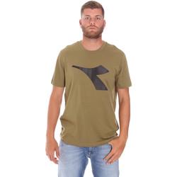 Textil Muži Trička s krátkým rukávem Diadora 102175852 Zelený